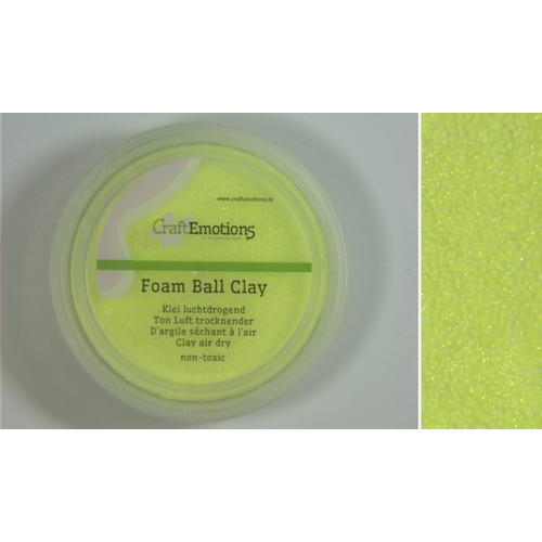 CraftEmotions Foamball clay - citroen 75ml - 23gr Air dry