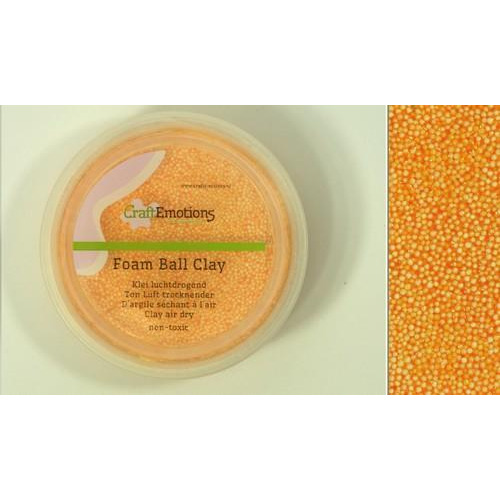 CraftEmotions Foamball clay - warm geel 75ml - 23gr Air dry