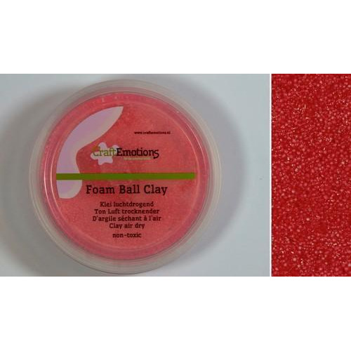 CraftEmotions Foamball clay - rood 75ml - 23gr Air dry