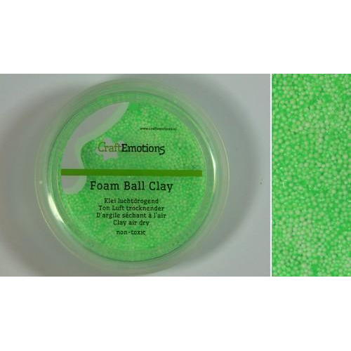 CraftEmotions Foamball clay - lichtgroen 75ml - 23gr Air dry