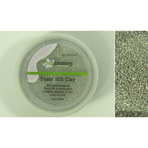 CraftEmotions Foamball clay - zilver glitter 75ml - 23gr Air dry