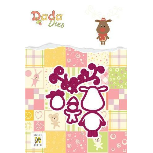 Nellie's Choice DADA Christmas Die - Rudolph DDD015 60x65mm (09-18)
