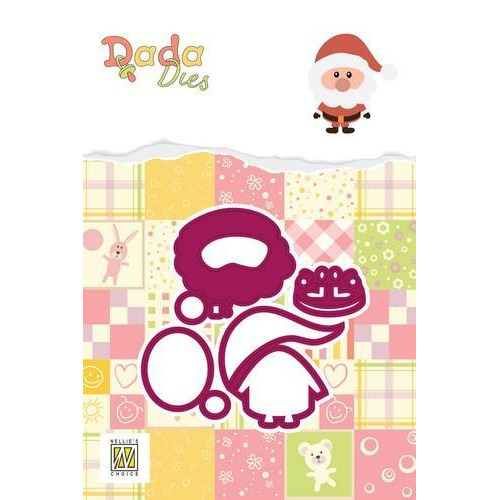 Nellie's Choice DADA Christmas Die - kerstman DDD016 45x50mm (09-18)