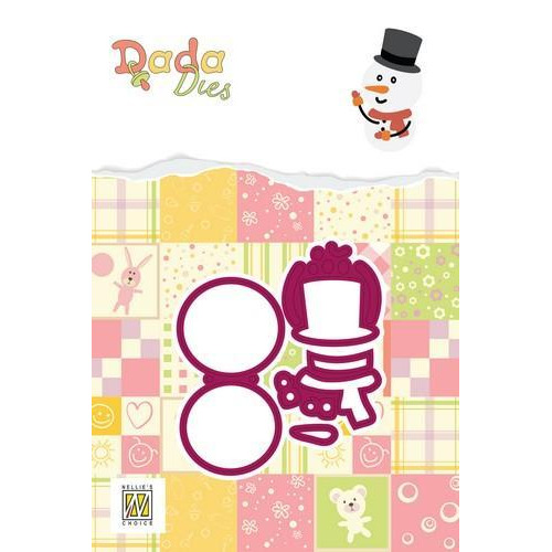 Nellie's Choice DADA Christmas Die - sneeuwpop DDD017 32x56mm (09-18)