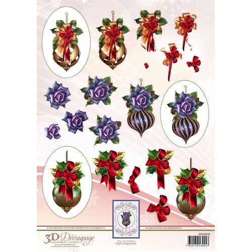 Ann`s Paper Art 3D Decoupage Sheet - Christmas Baubles