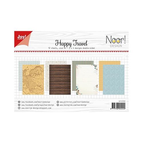 Papier Set A4 Papierset - Happy Travel