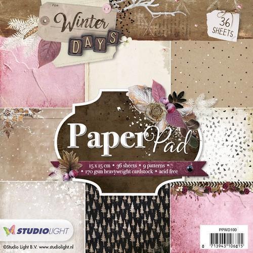 Studio Light Paper pad 36 vel Winter Days nr 100 PPWD100 15 x 15cm (10-18)