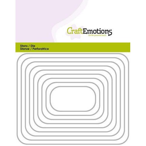 CraftEmotions Die - randen rechthoek met ronde hoeken Card 11x14cm (10-18)