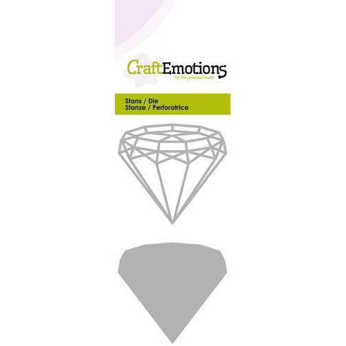 CraftEmotions Die - draadvorm diamand Card 5x10cm (10-18)