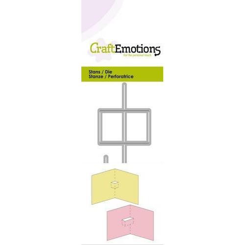 CraftEmotions Die - 2x pop-up basis Card 5x10cm (10-18)