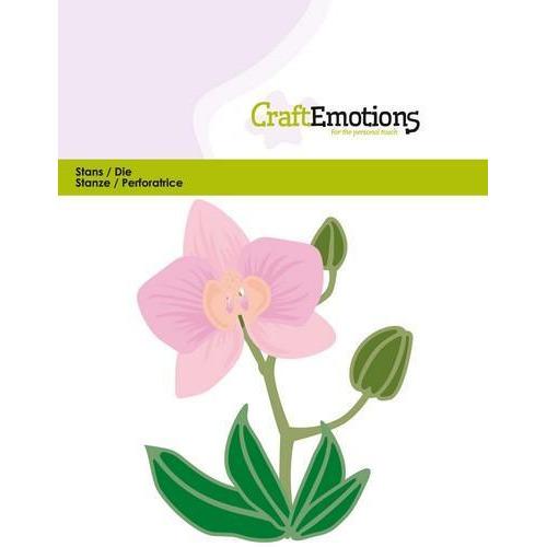 CraftEmotions Die - Orchidee bloem 3D Card 11x9cm (10-18)