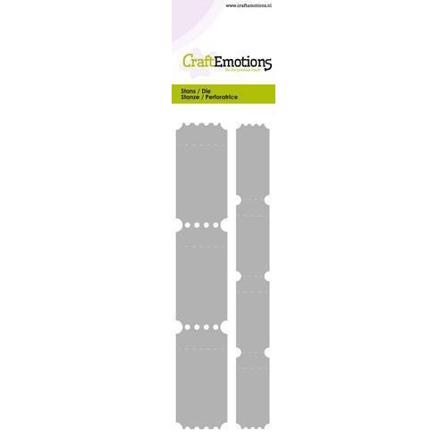 CraftEmotions Die - Cutting border - 2 ticket strips Card 5,0x21,5cm (10-18)