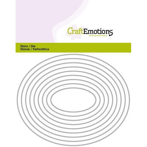 CraftEmotions Die - randen ovaal Card 11x14cm (10-18)