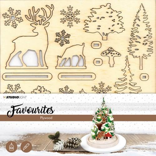 Studio Light Plywood favourites wooden scenery kerstboom PWSL04 (10-18)