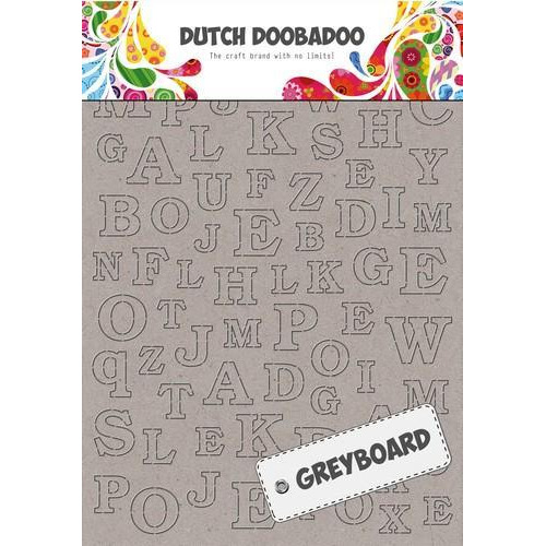 Dutch Doobadoo Dutch Greyboard alfabet A6 492.500.005 A4 (10-18)