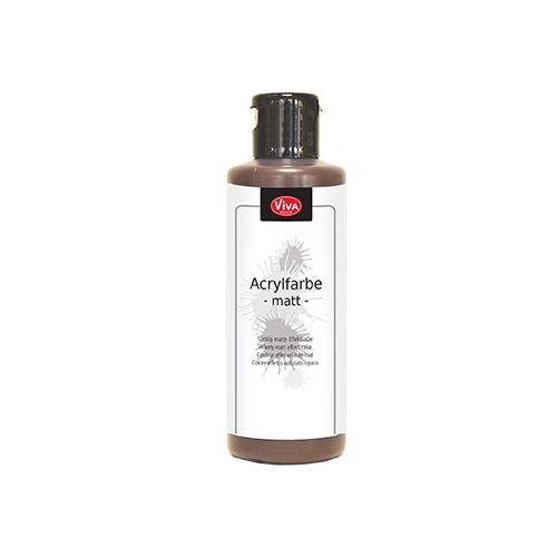 Acrylic Paint Matt Matt Middle Brown / Mat light bruin