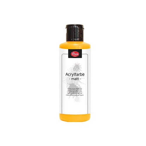 Acrylic Paint Matt Matt Yellow Orange / Mat geel oranje