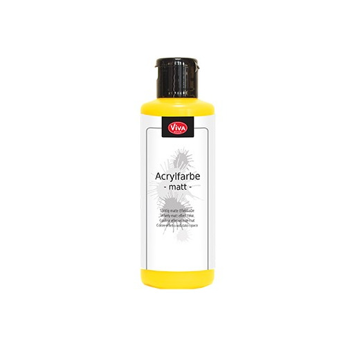 Acrylic Paint Matt Matt Yellow / Mat geel