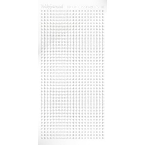 Hobbydots sticker Sparkle 01 Adhesive White