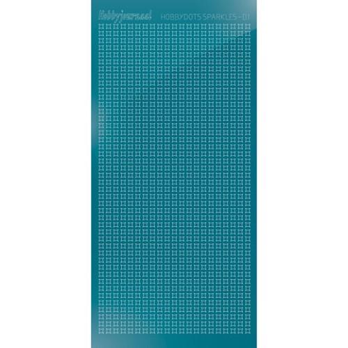 Hobbydots sticker Sparkles 01 Mirror Turquoise