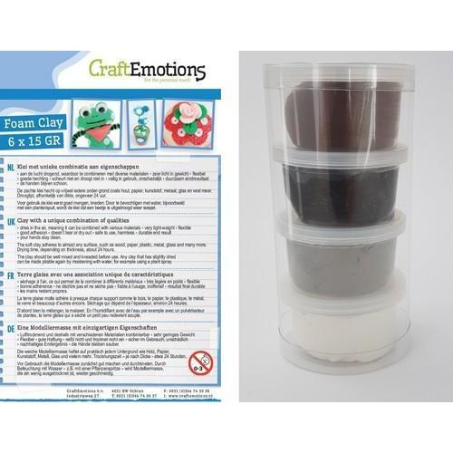 CraftEmotions Silk foam clay - Black&White  set 4 x 28gr Air dry