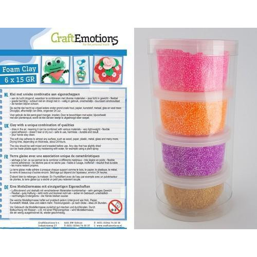 CraftEmotions Foamball clay -  girl  set 4 x 23gr Air dry