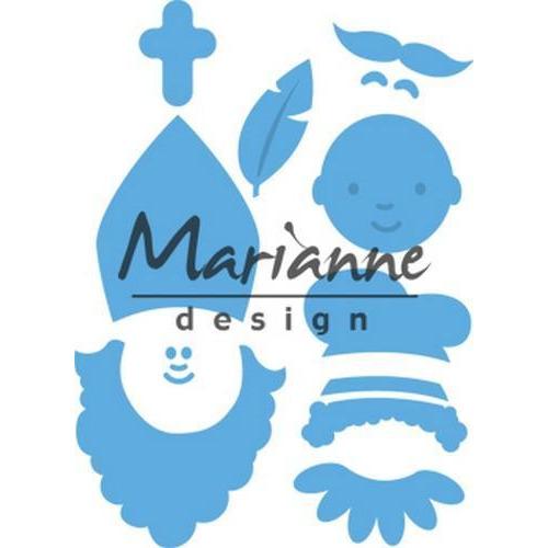 Marianne D Creatable Sinterklaas & Pieterbaas (NL) LR0565 80x42mm - 55x35mm (11-18)