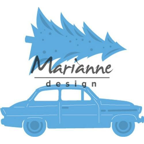Marianne D Creatable Driving home for christmas LR0567 42x48,5mm - 59x21,5mm (11-18)