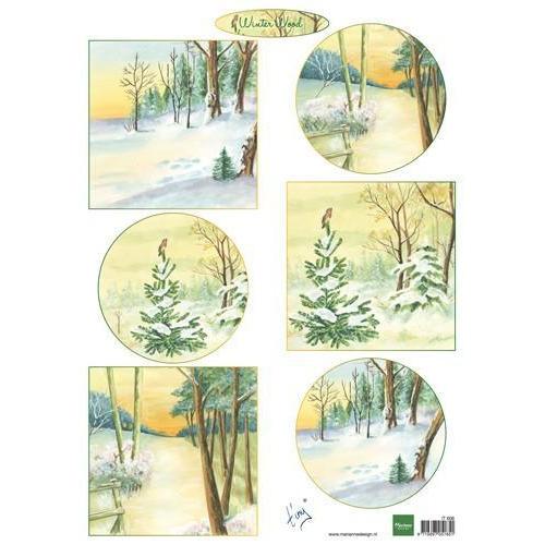 Marianne D Decoupage Winter wood IT606 A4 (11-18)