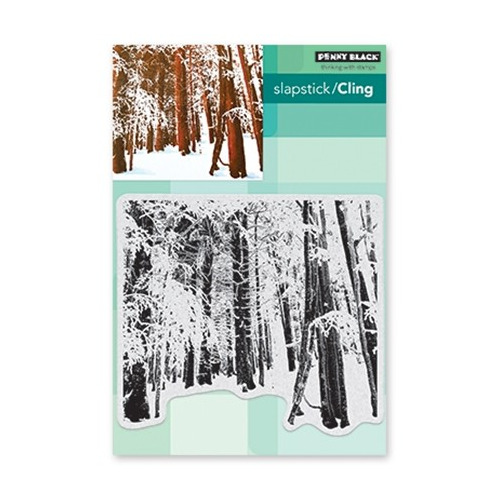 Slapstick/Cling Stamp Snow Forest