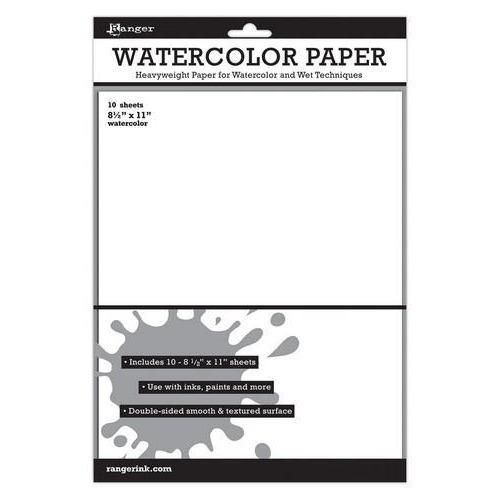 Ranger Watercolor Paper 8.5x11 10 vel ISW39532