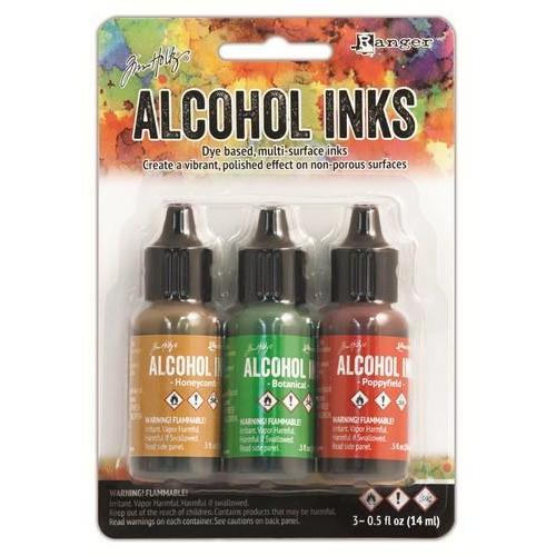 Ranger Alcohol Ink Kits  Conservatory Honeycomb, Botanical, .. TAK40859 Tim Holtz 3x15ml