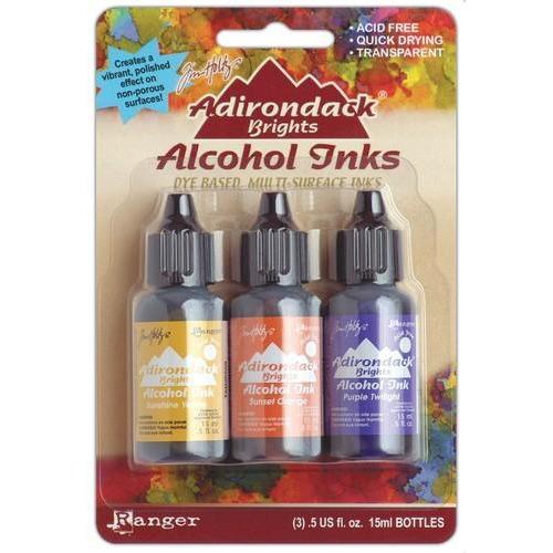 Ranger Alcohol Ink Kits  Summit View Sunshine Yellow,Sunset .. TAK25986 Tim Holtz 3x15ml