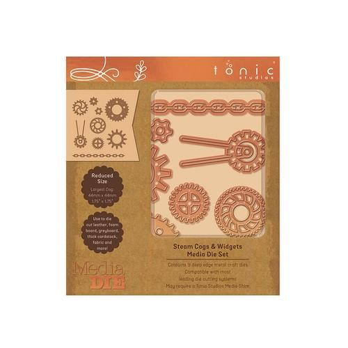 Tonic Studios Die -  Media Die Set - Steam & Cogs 2328E (10-18)