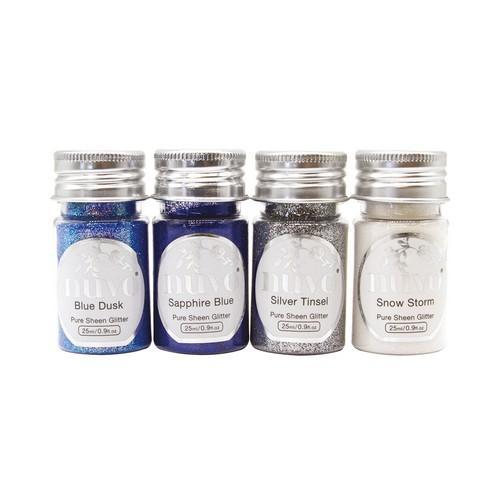 Nuvo pure sheen glitter - Let it Snow 4 pk 297N (10-18)