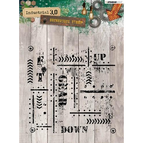 Studio Light Clearstempel 14x14 cm Industrial 3.0 nr 321 STAMPIN321 (10-18)