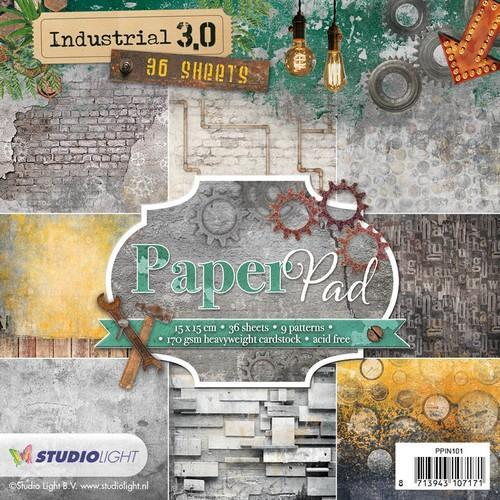 Studio Light Paper pad 36 vel Industrial 3.0 nr 101 PPIN101 15x15cm (10-18)