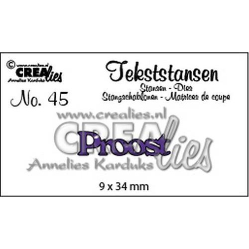 Crealies Tekststans no 45 Proost (NL) CLTS45 9x34mm (10-18)