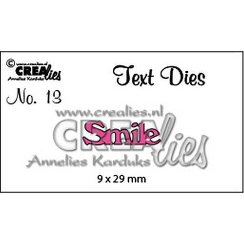 Crealies tekststans (Eng) nr. 13 Smile CLTD13 9x29mm (10-18)
