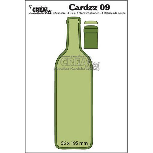 Crealies Cardzz no 09 wijnfles CLCZ09 56x195mm (10-18)
