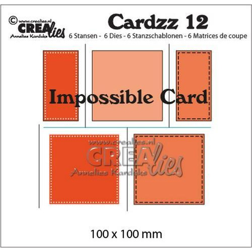Crealies Cardzz no 12 impossible card CLCZ12 100x100mm (10-18)
