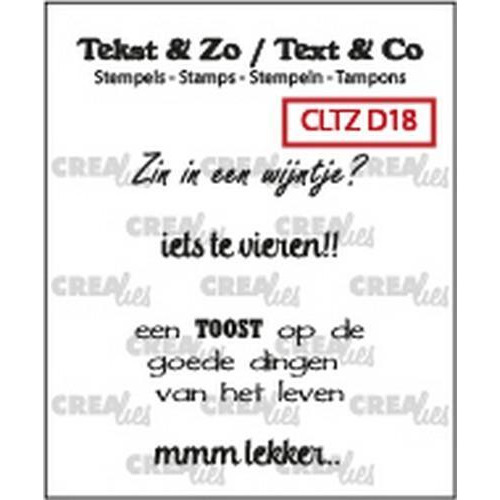 Crealies Clearstamp Tekst & Zo Wijn B (NL) CLTZD18 max. 32mm (10-18)