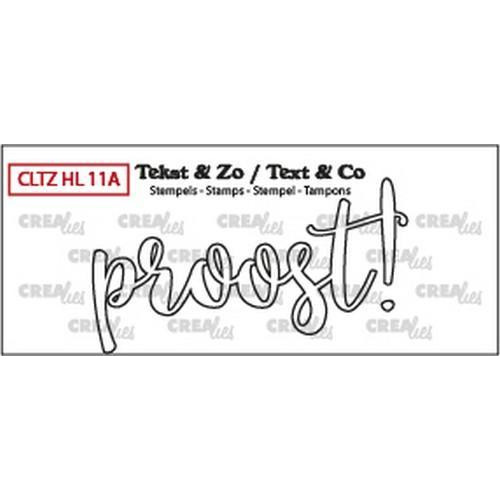 Crealies Clearstamp Tekst & Zo proost! (omlijning NL) CLTZHL11A 35x63mm (10-18)