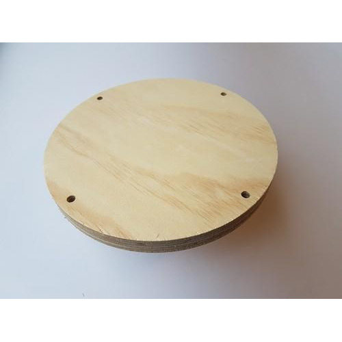 CraftEmotions Craft Wood -Macramé- Plank rond 20cm - 1,8cm - holes 7mm