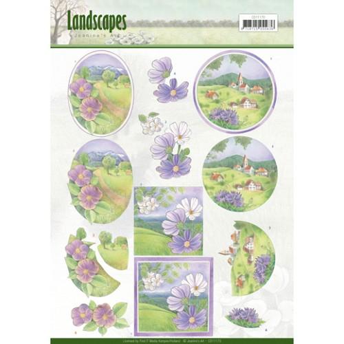 3D knipvel - Jeanine`s Art - Landscapes - Spring Landscapes