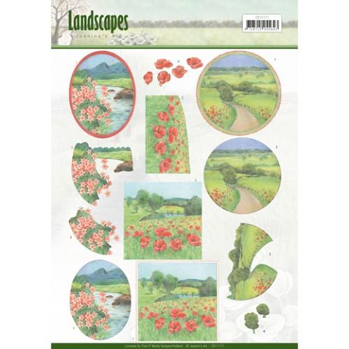 3D knipvel - Jeanine`s Art - Landscapes - Summer Landscapes
