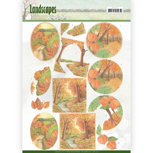 3D knipvel - Jeanine`s Art - Landscapes - Fall Landscapes