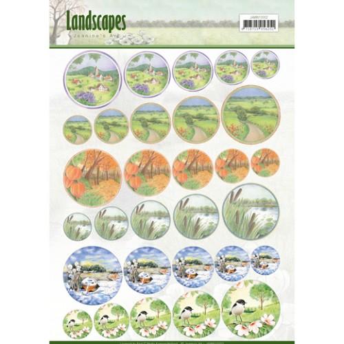 Scenery mini knipvellen - Jeanine`s Art - Landscapes - cirkel