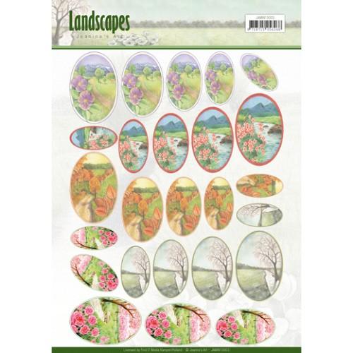 Scenery mini knipvellen - Jeanine`s Art - Landscapes - ovaal