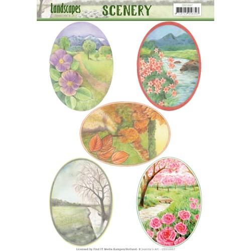 Scenery - Jeanine`s Art - Landscapes - Landscape Oval